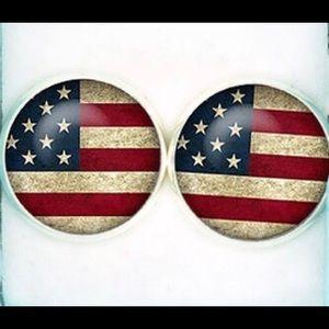 Other - Vintage American Flag Cufflinks